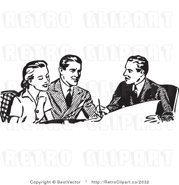 meeting clip art. Retro Clipart - Royalty Free