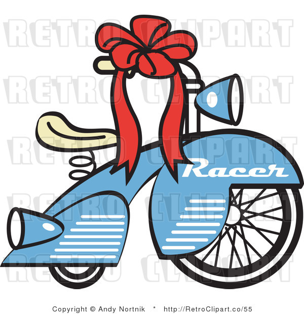 Royalty Free Retro Vector Clip Art of a Bicycle