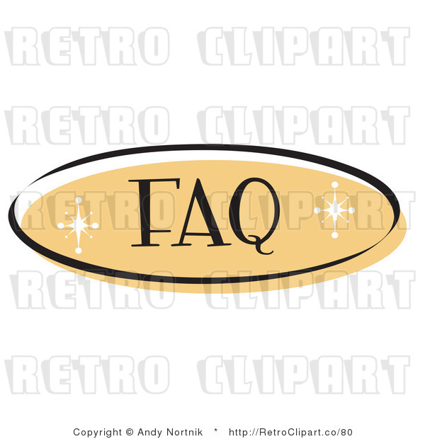 Royalty Free Retro Vector Clip Art of a FAQ Website Button