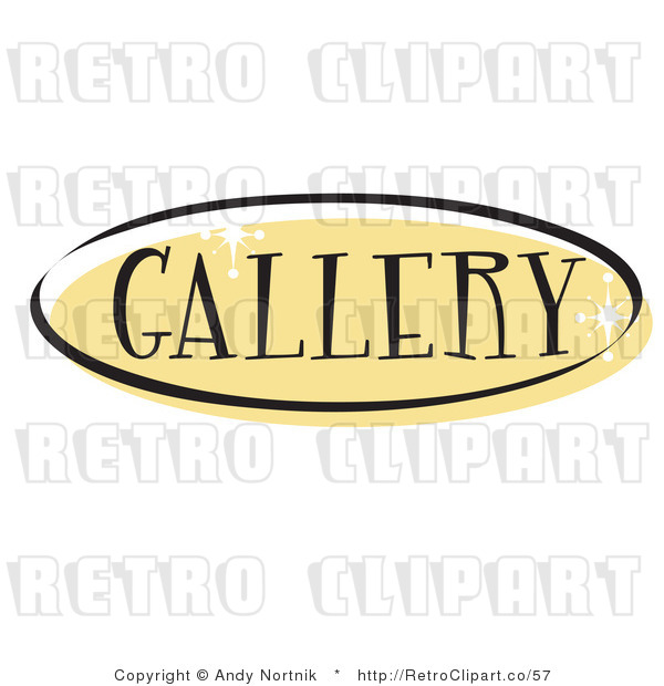 Royalty Free Retro Vector Clip Art of a Gallery Website Button