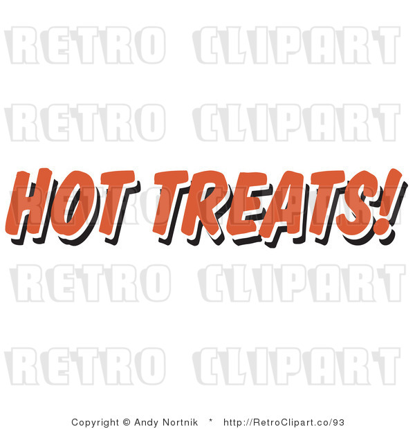Royalty Free Retro Vector Clip Art of a Hot Treats Restaurant Sign
