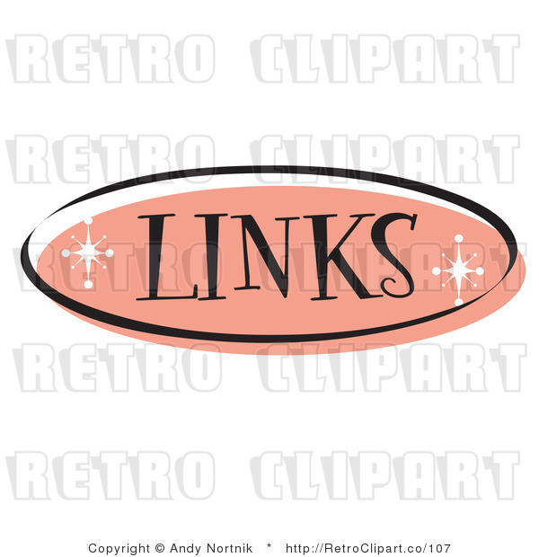Royalty Free Retro Vector Clip Art of a Pink Links Website Button