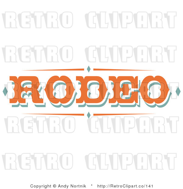Royalty Free Retro Vector Clip Art of a Rodeo Sign
