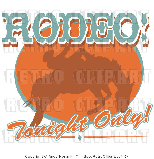 Royalty Free Retro Vector Clip Art of a Rodeo Tonight Only Sign