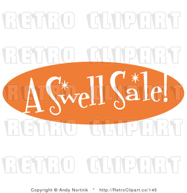 Royalty Free Retro Vector Clip Art of an a Swell Sale Sign