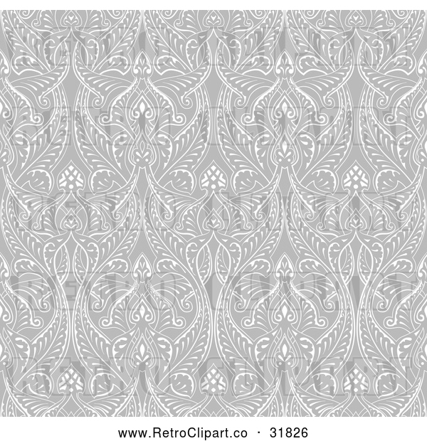 Vector Clip Art of a Retro Grayscale Seamless Islamic Motif Pattern