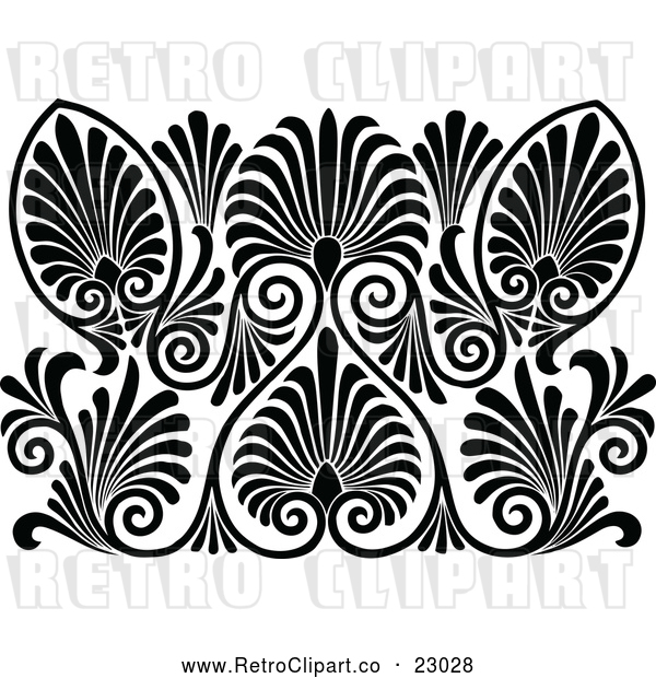 Vector Clip Art of a Retro Pattern