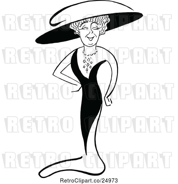 Vector Clip Art of Caricature of Lulu Glaser