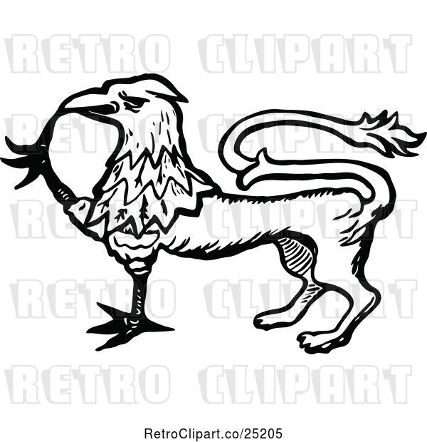 Vector Clip Art of Griffin