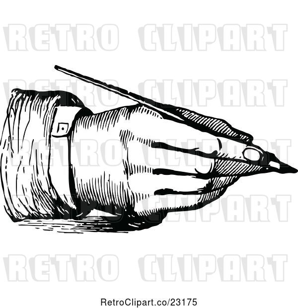 Vector Clip Art of Hand Writing with a Fountain Pen 3