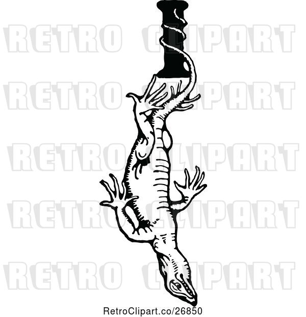 Vector Clip Art of Letter I and Iguana