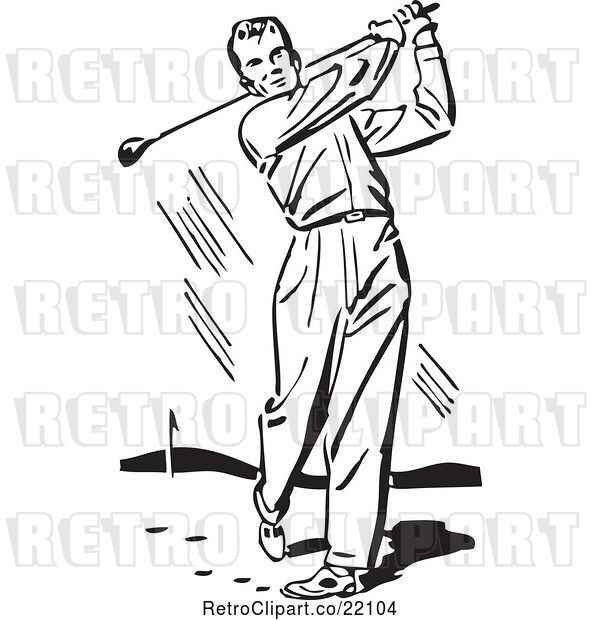 : Vector Clip Art of Male Golfer