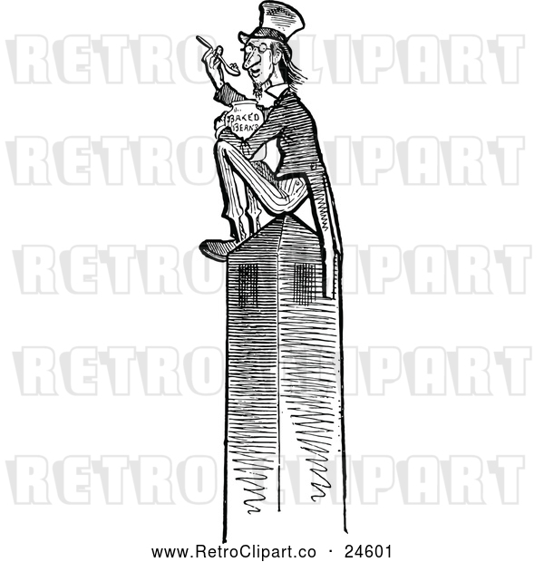 Vector Clip Art of Monument