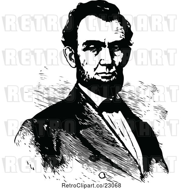 Vector Clip Art of Portrait of Abraham Lincoln