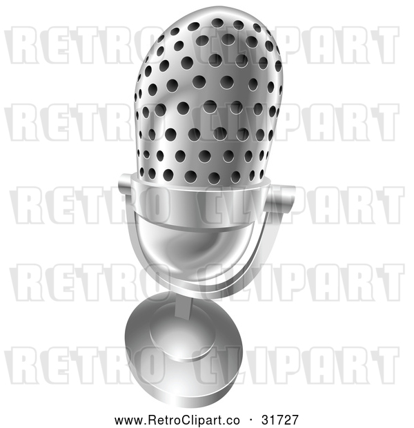 Vector Clip Art of Retro 3d Angled Desk Microphone