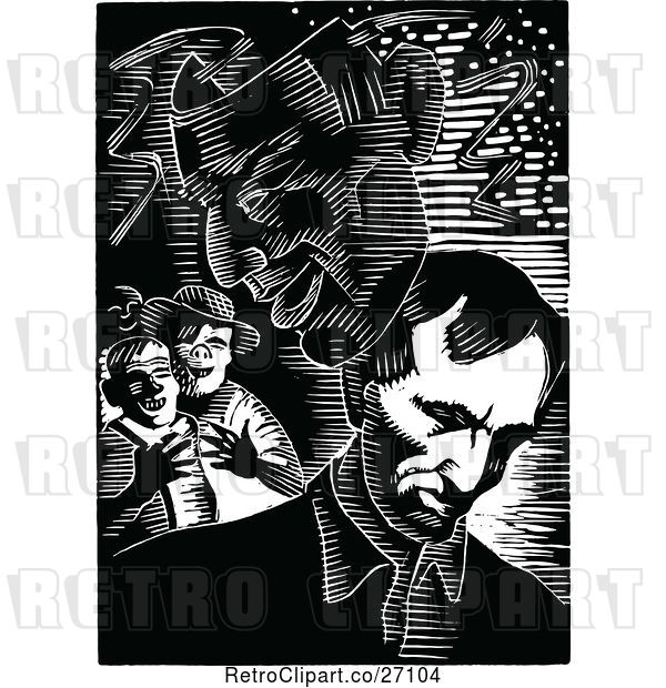 Vector Clip Art of Retro Abraham Lincoln Theater Ask and Boys