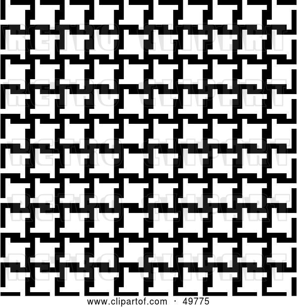 Vector Clip Art of Retro Background of Houndstooth Patterns