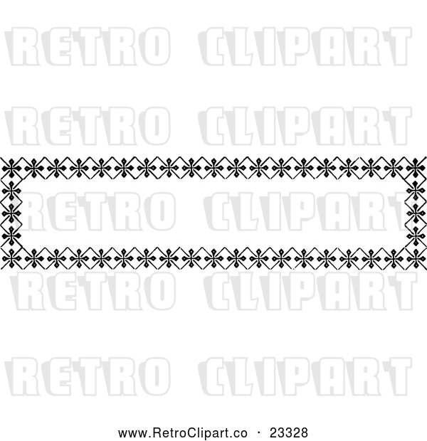 Vector Clip Art of Retro Banner Border Sign 3
