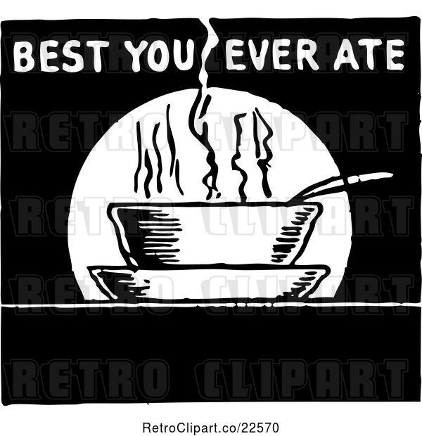 Vector Clip Art of Retro Best You Ever Ate Sign