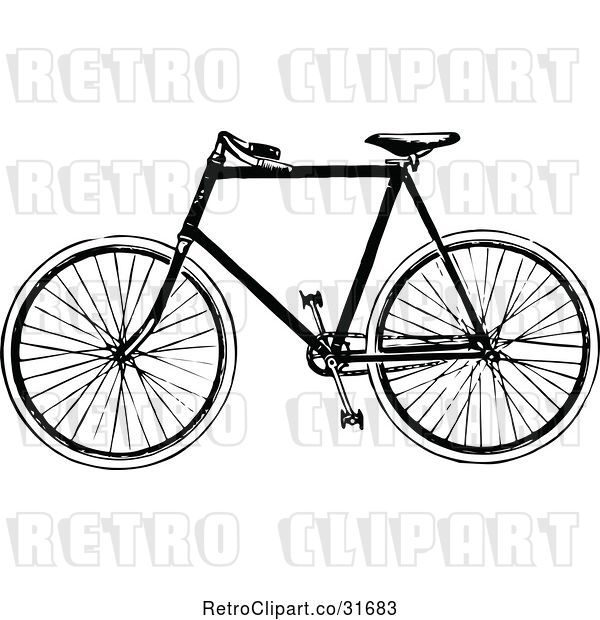 Vector Clip Art of Retro Bicycle 2