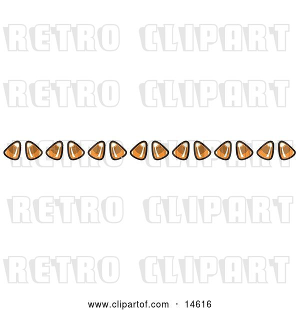 Vector Clip Art of Retro Border of Candy Corn