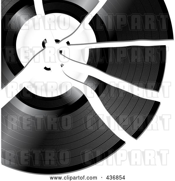 Vector Clip Art of Retro Broken Record