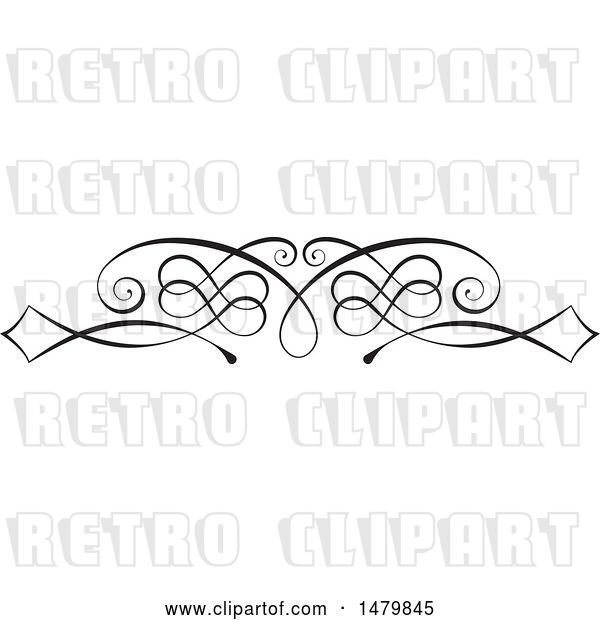 Vector Clip Art of Retro Calligraphic Design Element