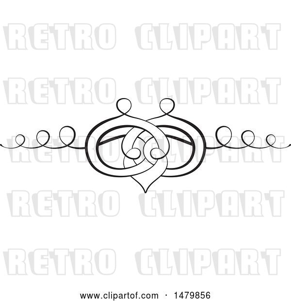 Vector Clip Art of Retro Calligraphic Wedding Band Design Element