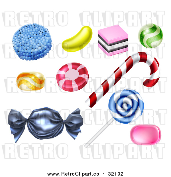 Vector Clip Art of Retro Candies