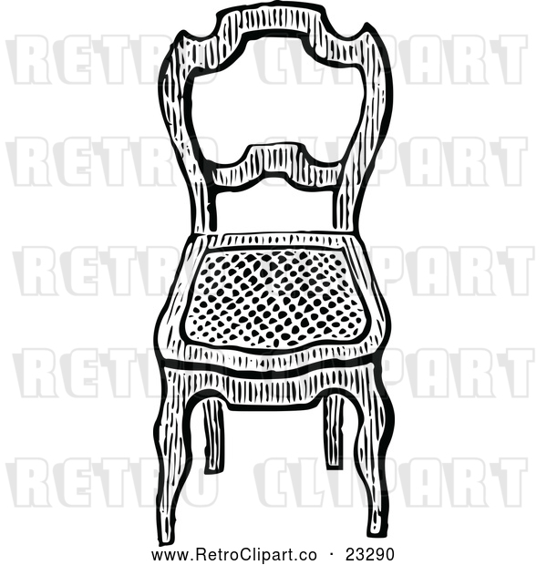 Vector Clip Art of Retro Chair