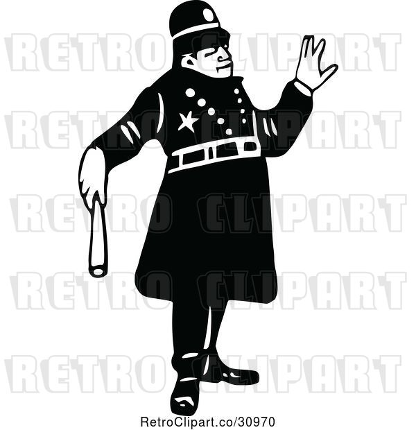 Vector Clip Art of Retro Constable 8