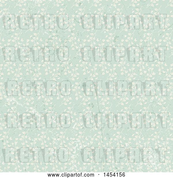 Vector Clip Art of Retro Distressed Floral Background