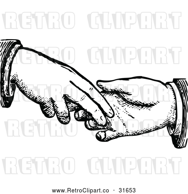 Vector Clip Art of Retro Dodgy Handshake 2
