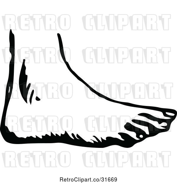 Vector Clip Art of Retro Foot