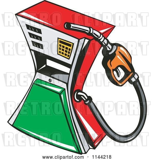 Vector Clip Art of Retro Gas Station Pump 1
