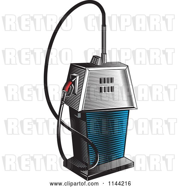 Vector Clip Art of Retro Gas Station Pump 3