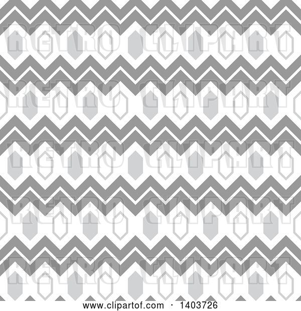 Vector Clip Art of Retro Geometric Seamless Grayscale Pattern Background