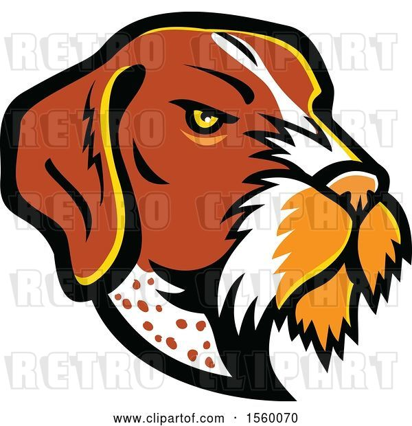 Vector Clip Art of Retro German Wirehaired Pointer Dog Mascot