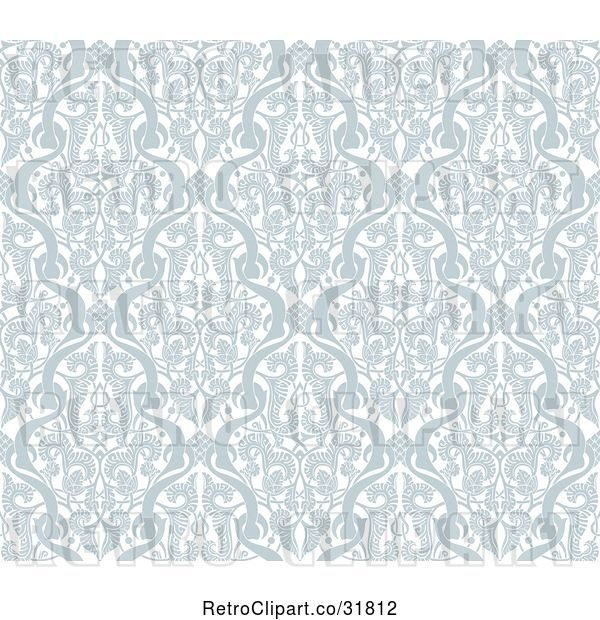 Vector Clip Art of Retro Gray Seamless Middle Eastern Arabic Motif Background Pattern