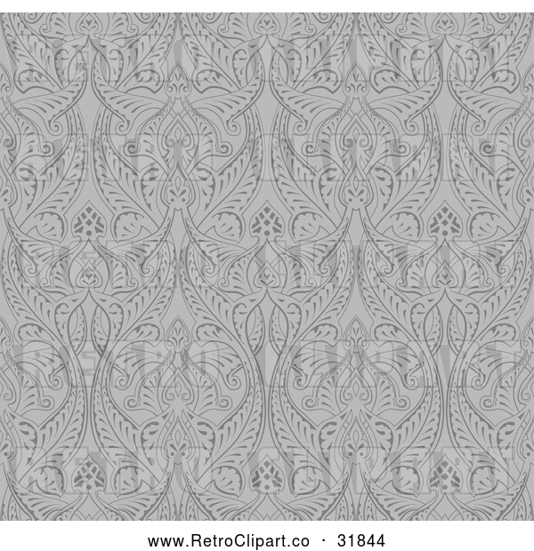 : Vector Clip Art of Retro Grayscale Seamless Middle Eastern Pattern