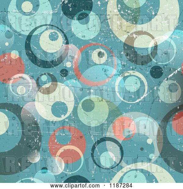 Vector Clip Art of Retro Grungy Circle Background