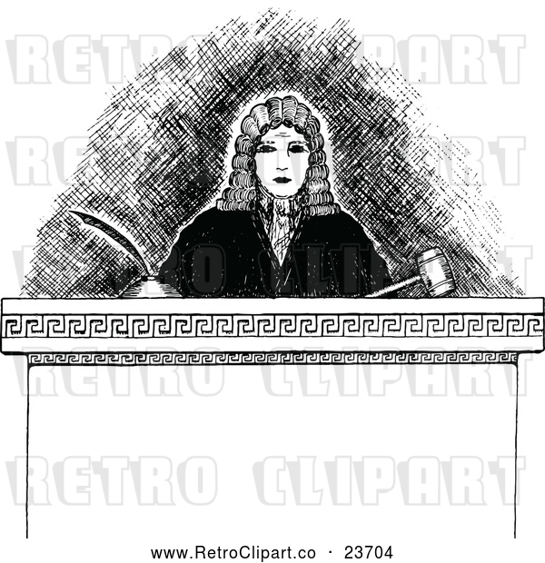 : Vector Clip Art of Retro Judge