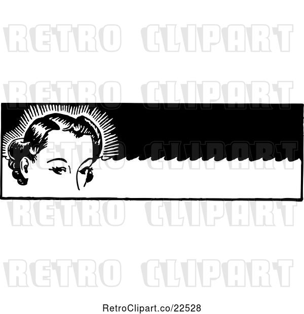 Vector Clip Art of Retro Lady with Permanent Waves