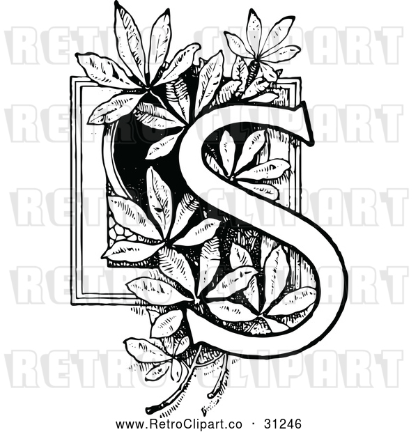 Vector Clip Art of Retro Letter S