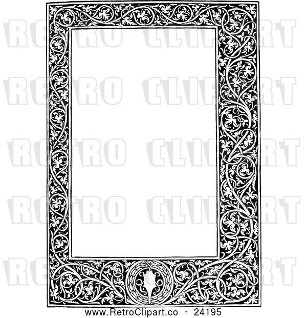 : Vector Clip Art of Retro Medieval Page Frame