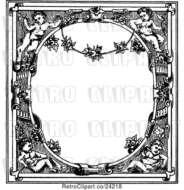 Vector Clip Art of Retro Medieval Page Frame