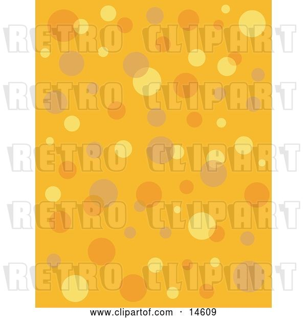 Vector Clip Art of Retro Orange Background with Colorful Bubbles and Circles Clipart Illustration