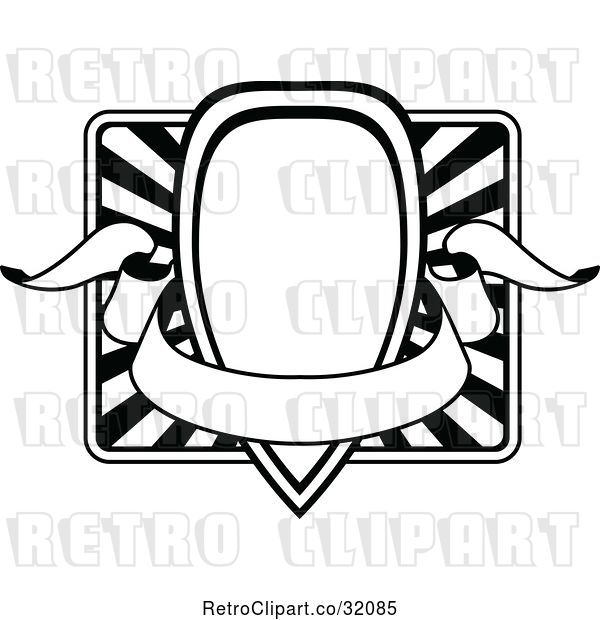Vector Clip Art of Retro Ornate Frame with a Banner