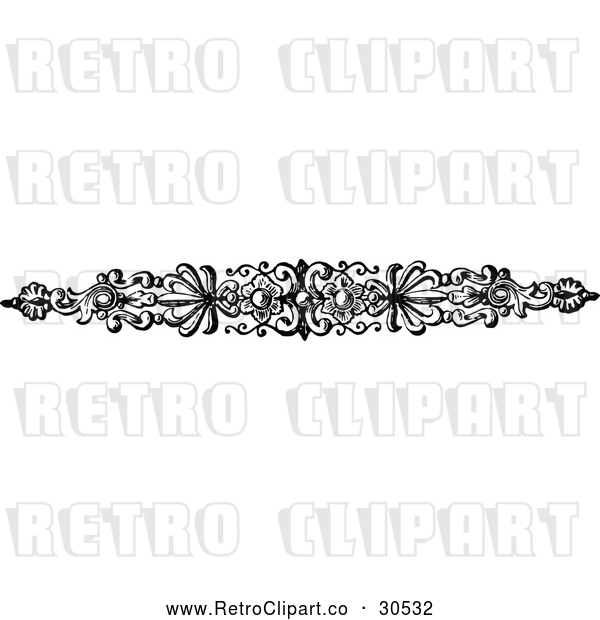 Vector Clip Art of Retro Ornate Page Border 1