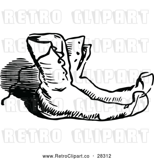 Vector Clip Art of Retro Pair of Boots